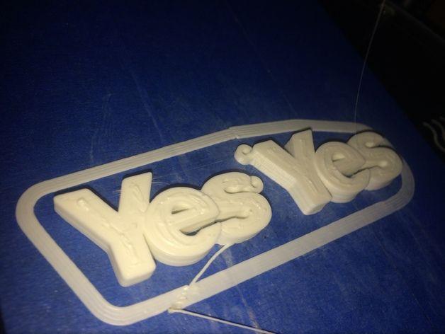 YES字母耳坠 3D打印模型渲染图