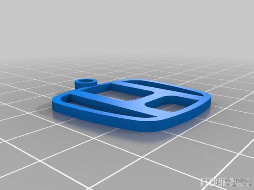 本田钥匙扣 3D打印模型渲染图