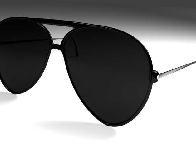 太阳镜 3D打印模型渲染图