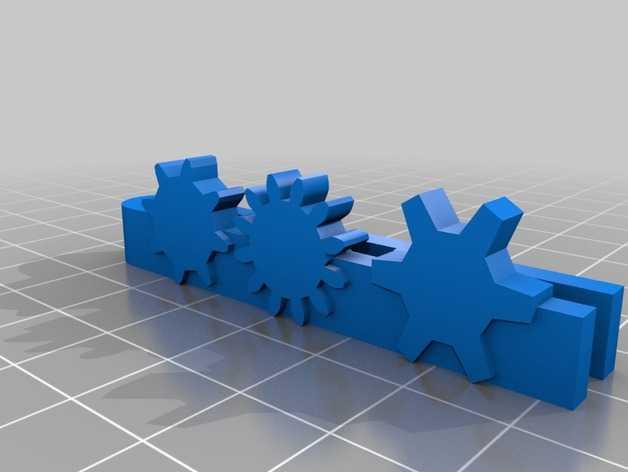 齿轮领带夹 3D打印模型渲染图
