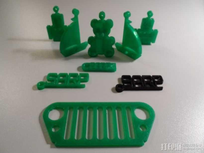 小熊挂件 3D打印模型渲染图