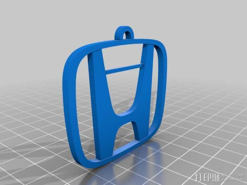 本田汽车钥匙坠 3D打印模型渲染图
