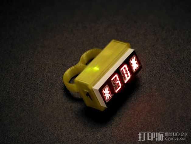 LED指节环 3D打印模型渲染图
