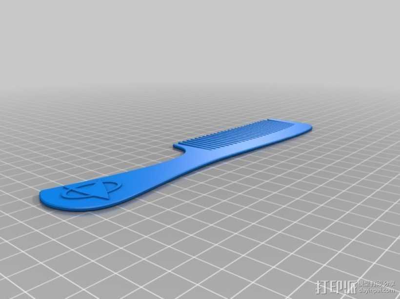 星际迷航 梳子 3D打印模型渲染图