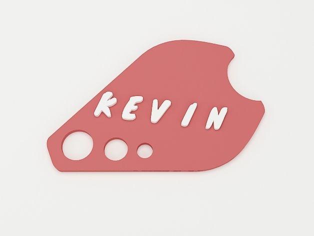 keven钥匙扣 3D打印模型渲染图