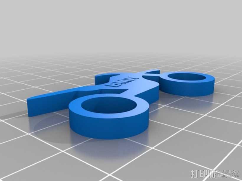 BMW摩托车钥匙扣 3D打印模型渲染图