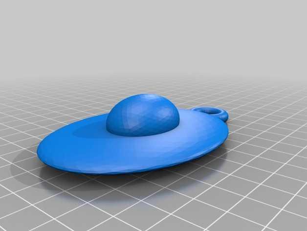 鸡蛋挂件 3D打印模型渲染图