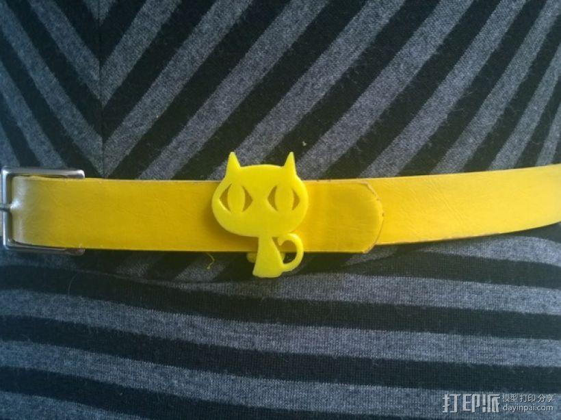 Kitty猫 皮带环 3D打印模型渲染图