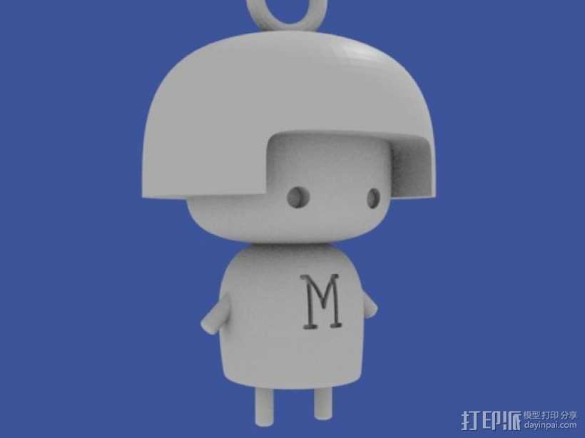 María娃娃 挂饰 3D打印模型渲染图