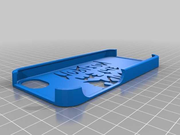 Iphone 手机保护壳 3D打印模型渲染图