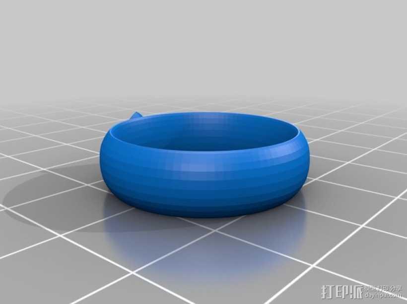 CTR戒指 3D打印模型渲染图
