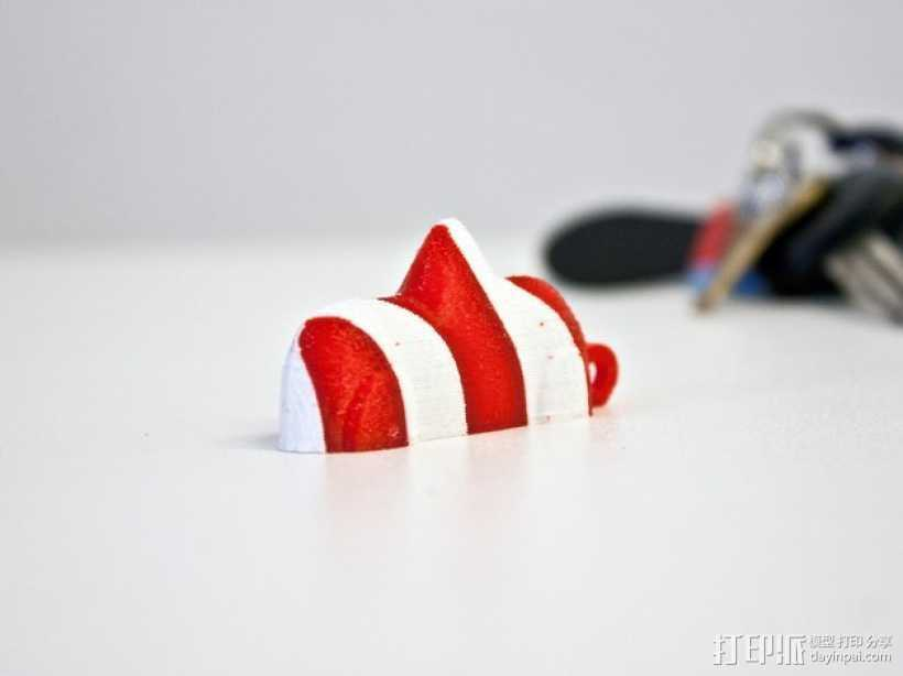 瑞士糖 钥匙扣 3D打印模型渲染图