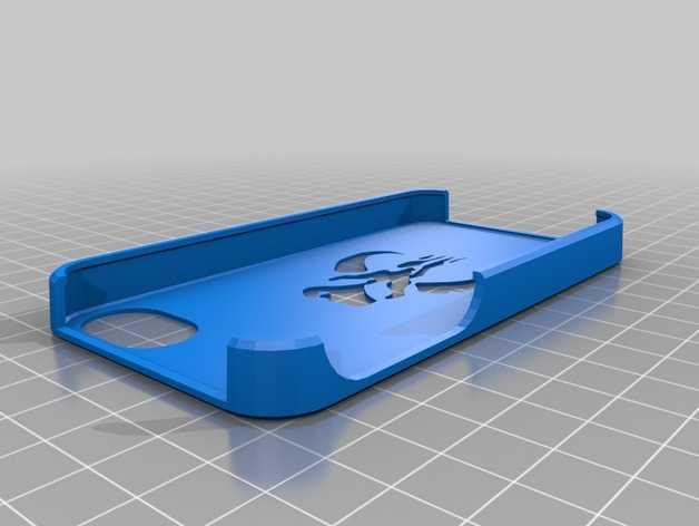 Mandalorian曼达洛iphone手机保护壳 3D打印模型渲染图