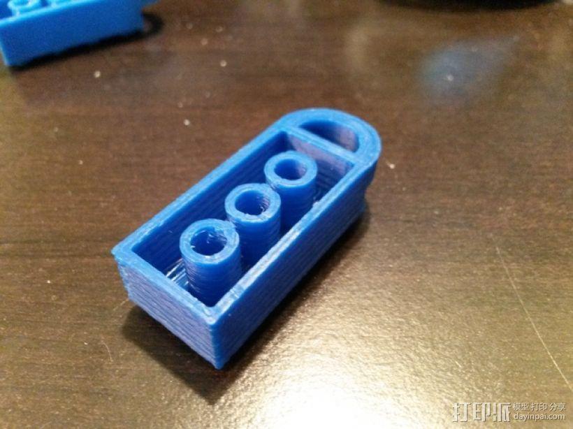 积木挂件 3D打印模型渲染图