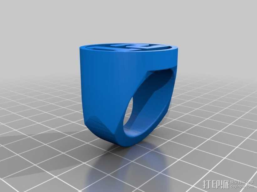 西雅图海鹰队 戒指 3D打印模型渲染图