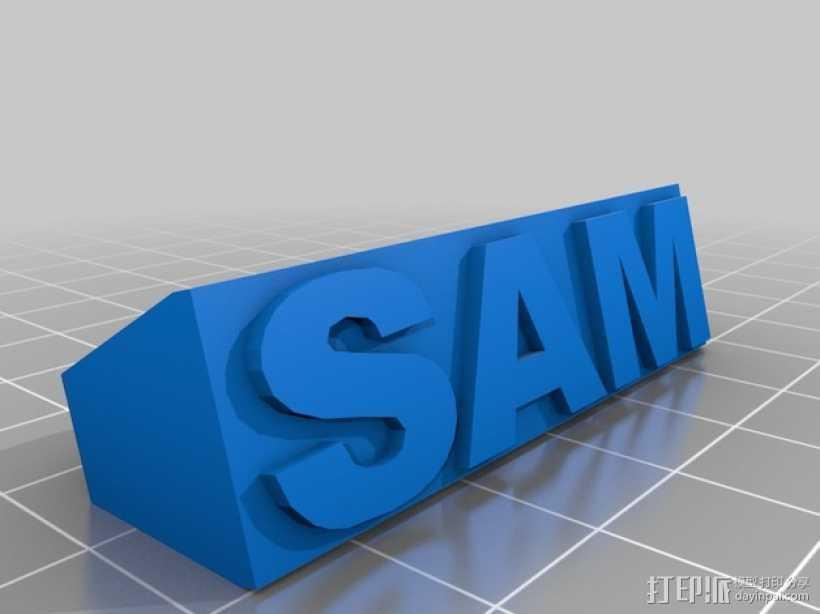SAM指节套环 3D打印模型渲染图