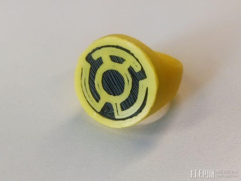 黄灯军团 戒指 3D打印模型渲染图