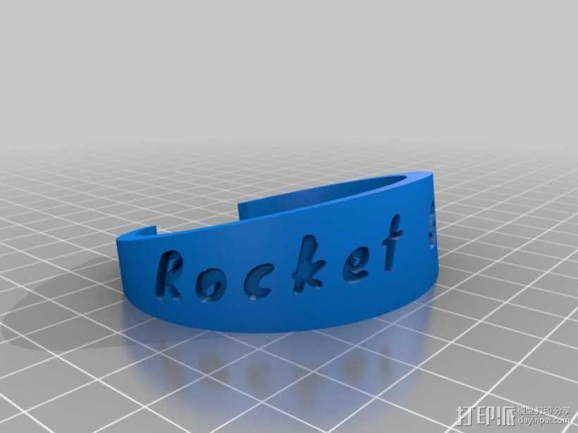 rocket girls火箭女孩手镯 3D打印模型渲染图