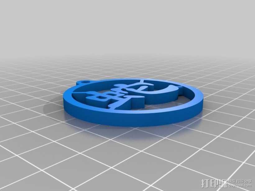 蛇字挂件 3D打印模型渲染图