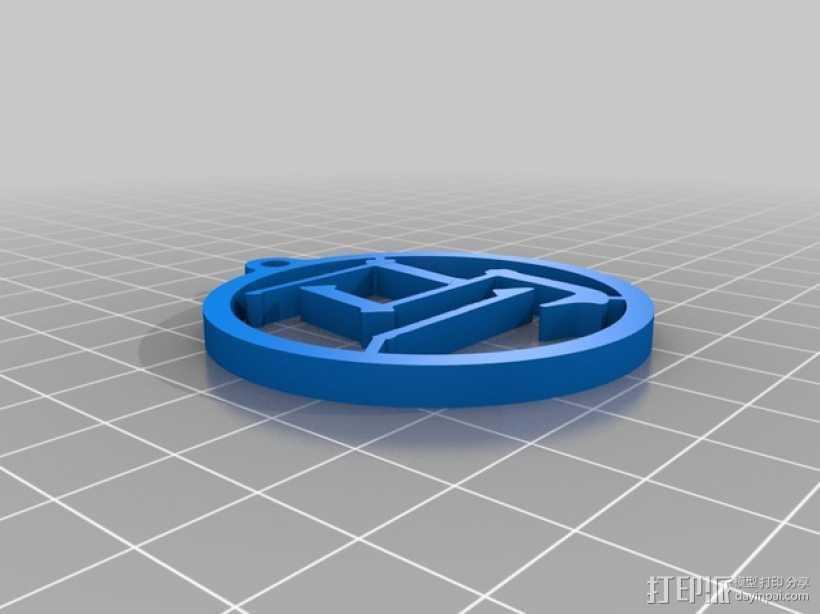 马字挂件 3D打印模型渲染图