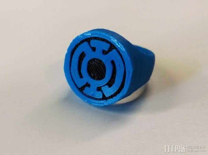 蓝灯军团 戒指 3D打印模型渲染图