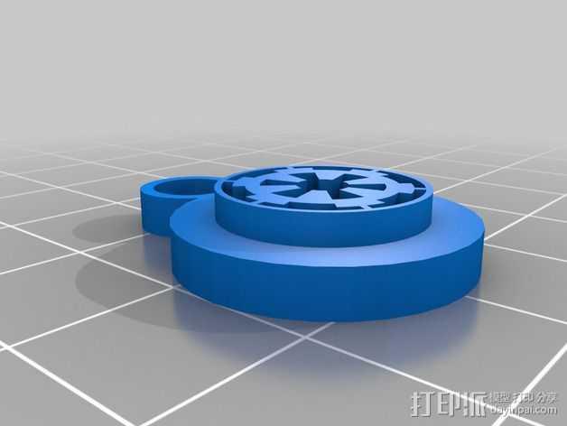 帝国标志 耳坠 3D打印模型渲染图