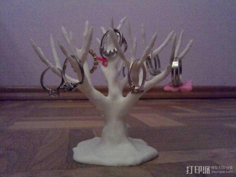 树形首饰架 3D打印模型渲染图