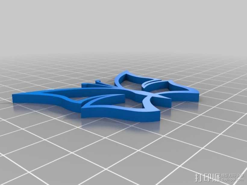 蝴蝶挂件 3D打印模型渲染图