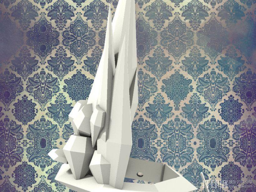 钻石皇冠 3D打印模型渲染图