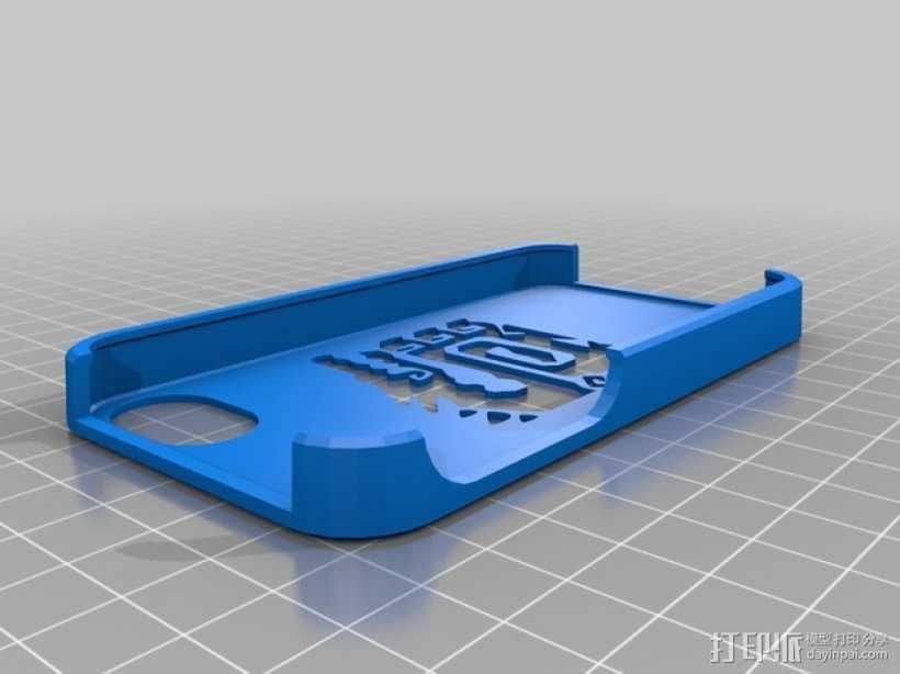 怪物猎人标志  Iphone 4手机保护壳 3D打印模型渲染图