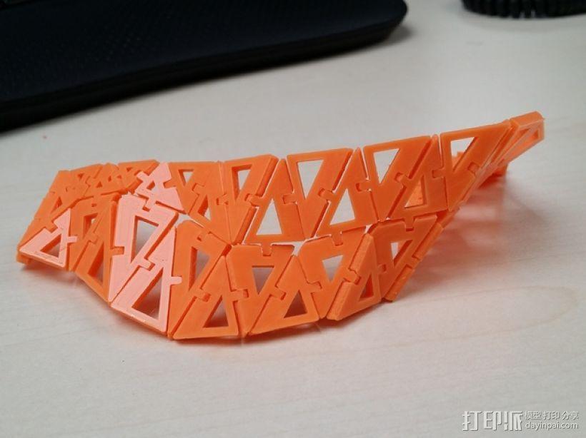 运动手镯 3D打印模型渲染图