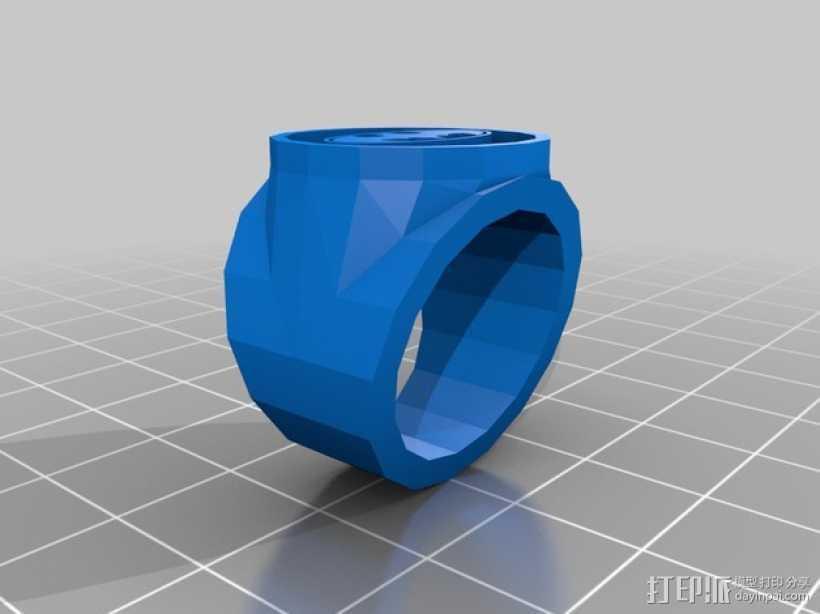 蝙蝠侠 戒指 3D打印模型渲染图