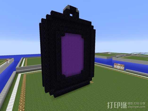 传送门 项链坠 3D打印模型渲染图