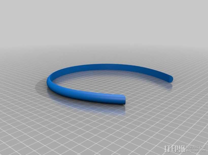 发箍 发带 3D打印模型渲染图