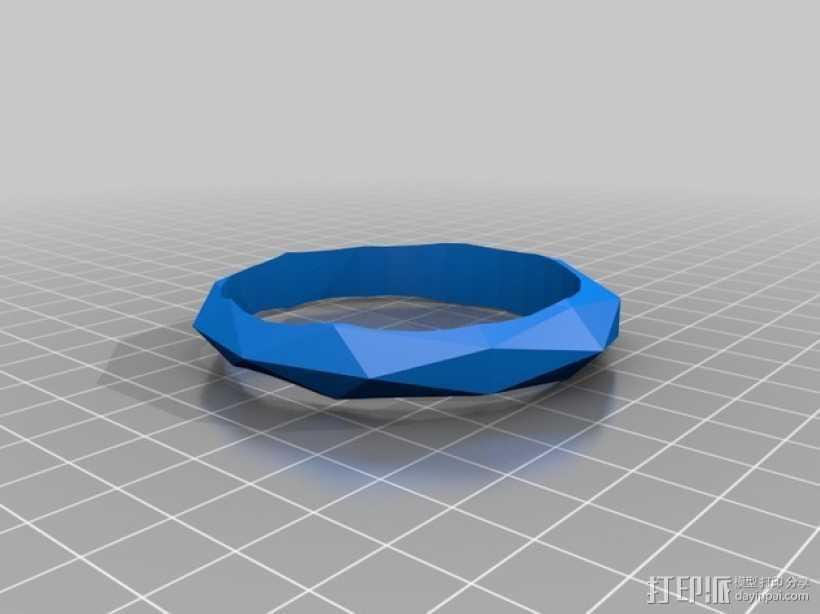 几何平面手镯 3D打印模型渲染图