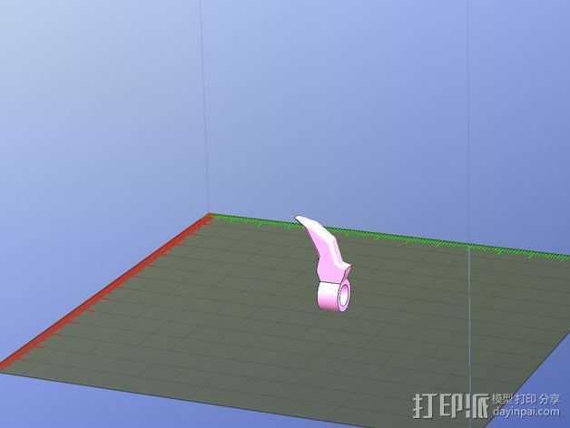 尖牙 项链坠 3D打印模型渲染图