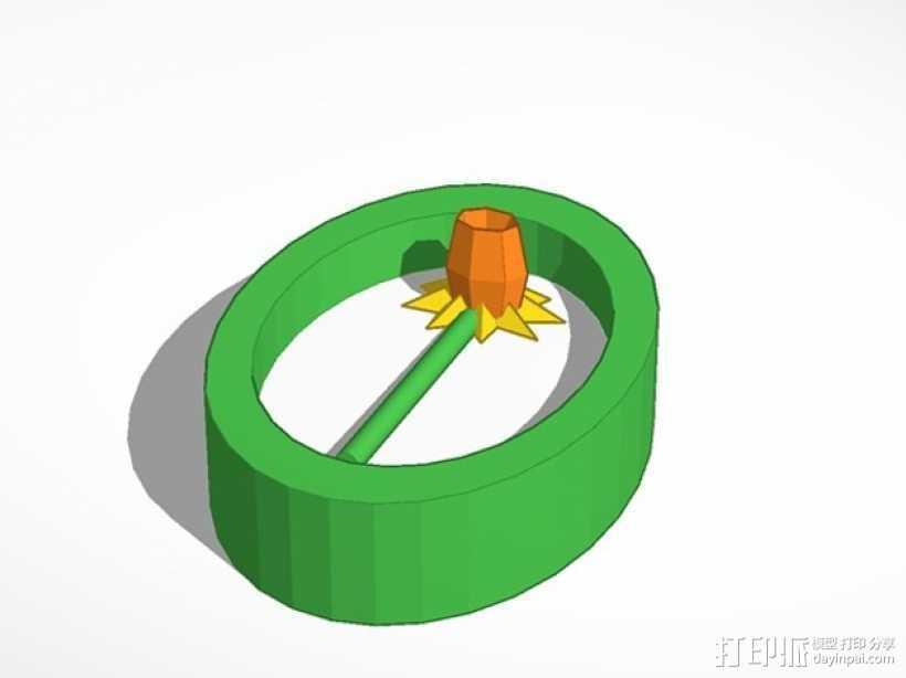 水仙花 挂件 3D打印模型渲染图