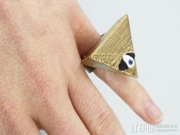 三角戒指 3D打印模型渲染图