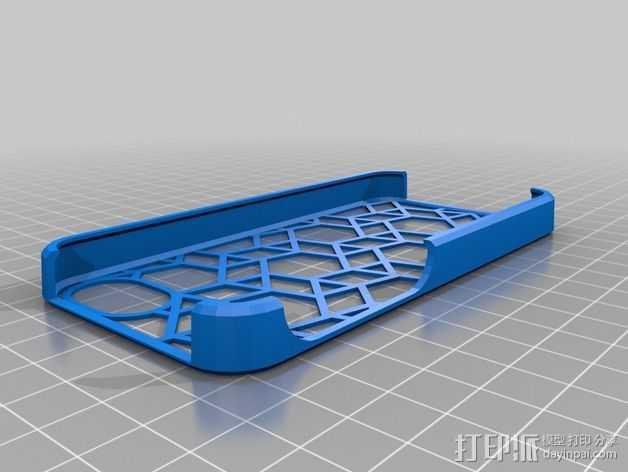 iphone 5c手机保护壳 3D打印模型渲染图