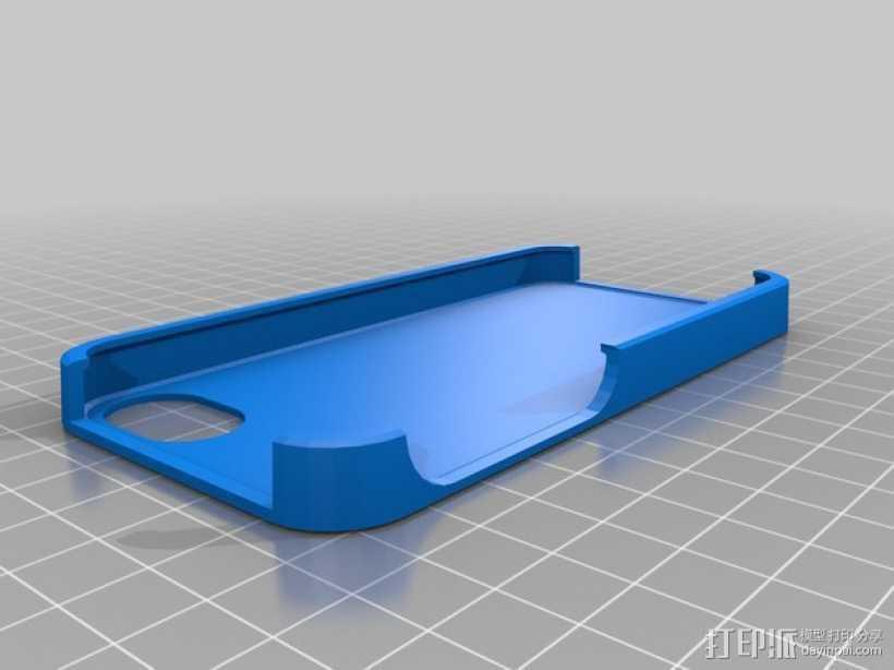 iPhone 5手机保护套 3D打印模型渲染图