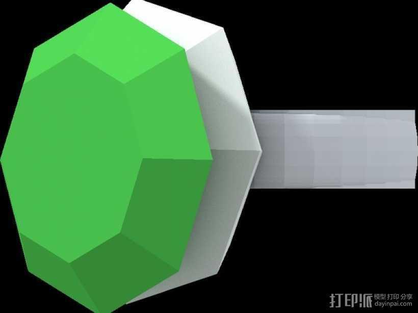 钻石戒指 3D打印模型渲染图