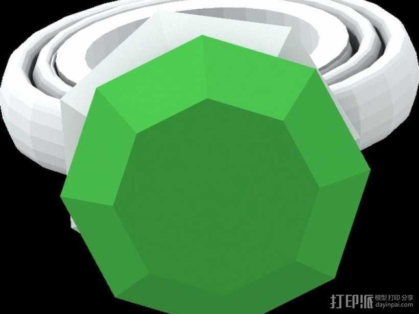 宝石戒指 3D打印模型渲染图