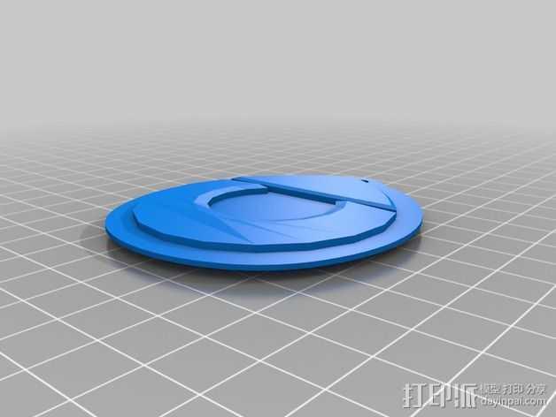 奔驰Smart fortwo标志 钥匙扣 3D打印模型渲染图