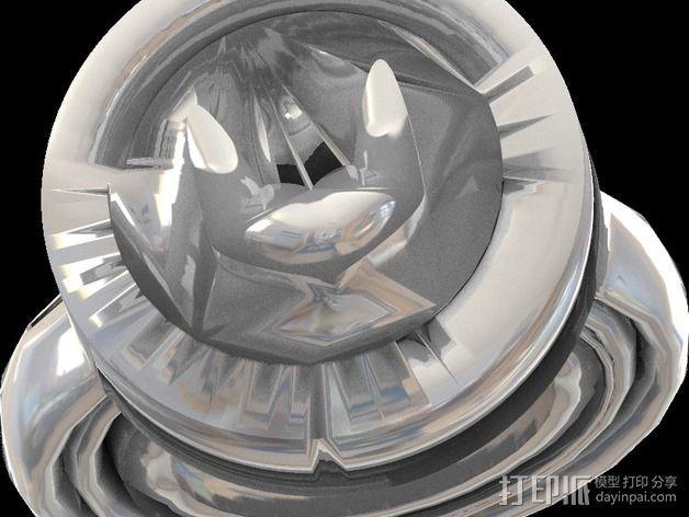 蝙蝠侠戒指 3D打印模型渲染图