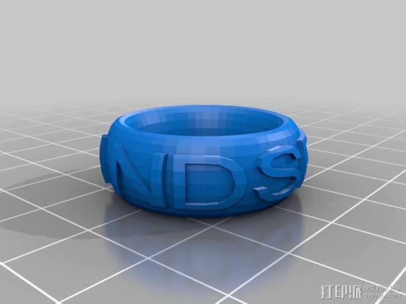 LINDSEY戒指 3D打印模型渲染图