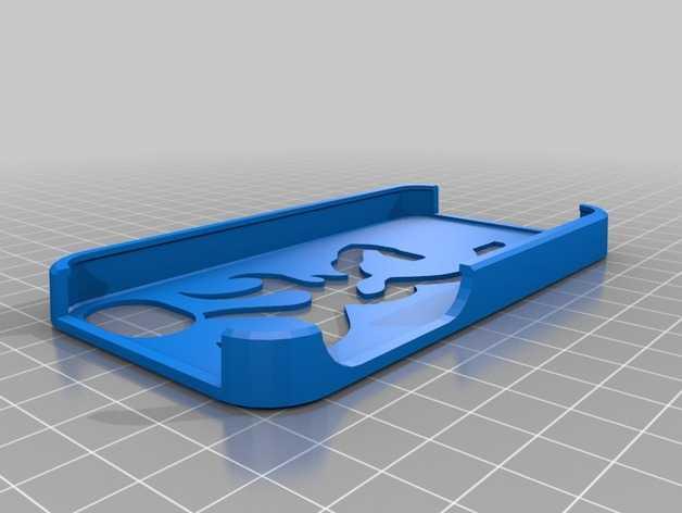 browning 标志iphone 4s手机保护套 3D打印模型渲染图