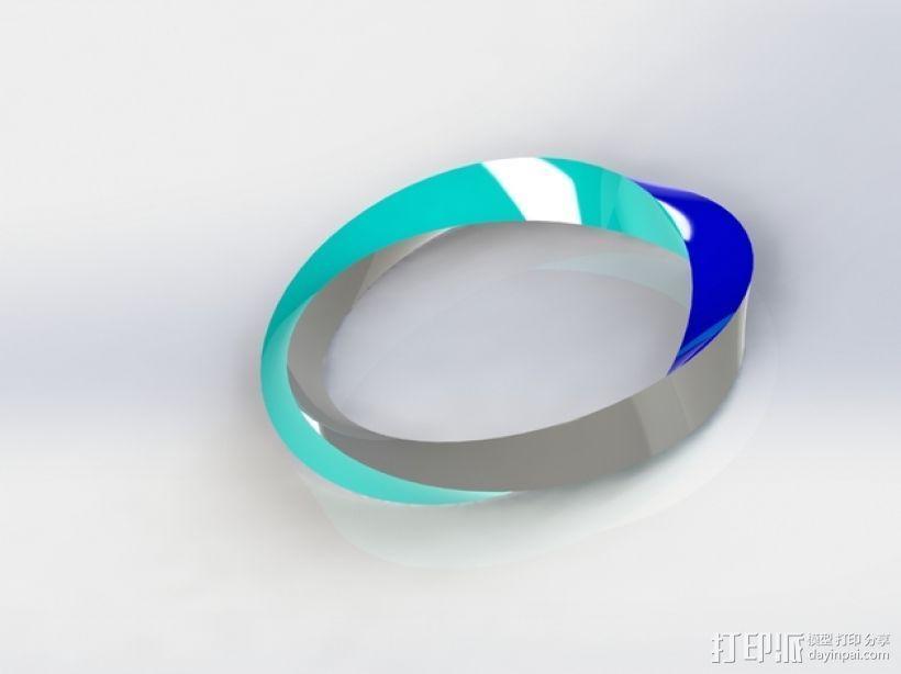 手镯 3D打印模型渲染图