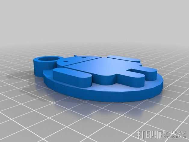 安卓小人 钥匙扣 3D打印模型渲染图