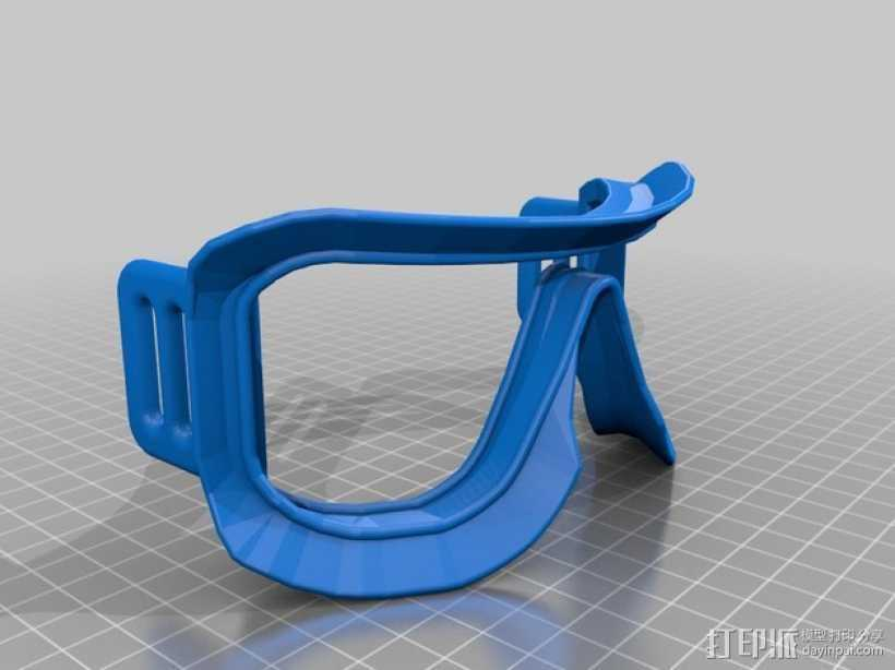 滑雪护目镜 3D打印模型渲染图