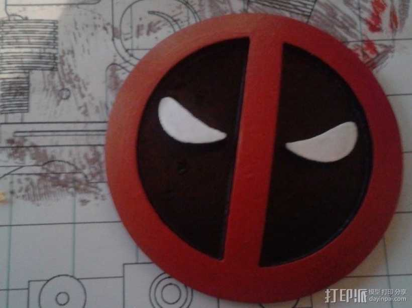 Deadpool死侍皮带扣 3D打印模型渲染图